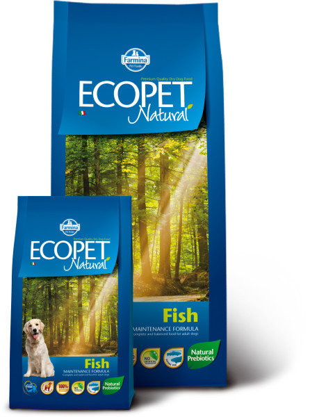 Farmina Ecopet Natural Fish MINI Сухой корм для собак мелких пород с рыбой