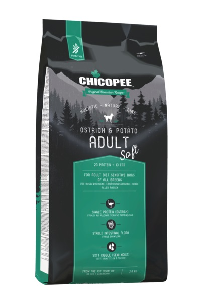 Чикопи Holistic Nature Line Софт Страус и картофель/Chicopee HNL Soft Adult Ostrich & Potato