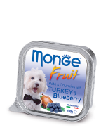 Monge Dog Fruit консервы для собак индейка с черникой 100г * 5 шт