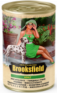 BROOKSFIELD Adult Dog консервированный корм для собак Говядина с Уткой и рисом 400гр