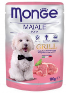 Monge Dog Grill Pouch паучи для собак свинина 100г
