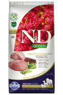 N&D Dog Quinoa Weight Management Lamb Сухой корм для собак Ягненок, киноа, брокколи и спаржа. Контроль Веса