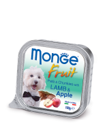 Monge Dog Fruit консервы для собак ягненок с яблоком 100 г * 5 шт